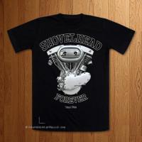 1967 Shovelhead Forever  Black T-Shirt