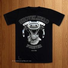 1970 Shovelhead Forever  Black T-Shirt