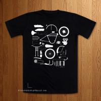 Knolling 1916 JD  -  Black T-Shirt