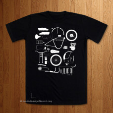 Knolling 1916 JD  -  Black T-Shirt