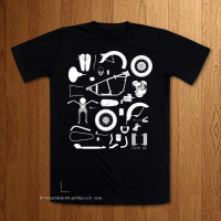 Knolling 1936 EL  -  Black T-Shirt