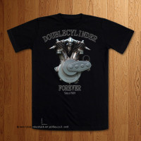 "1909 ""Double Cylinder"" Black T-Shirt"