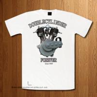 "1909 ""DoubleCylinder"" White T-Shirt"
