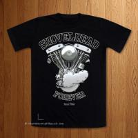 1966 Shovelhead Forever  Black T-Shirt
