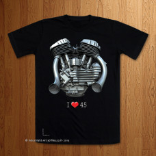 I Love 45 Toonz Pipes Black T-Shirt