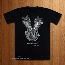 """Knuckleheart""  -  Black T-Shirt"