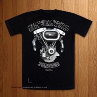 Shovelhead Forever Black T-Shirt Version 2