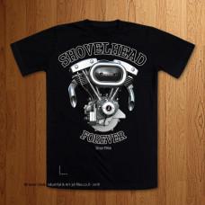 Shovelhead Forever Black T-Shirt Version 2