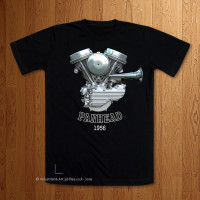 1956 - 57 Panhead Engine T-Shirt