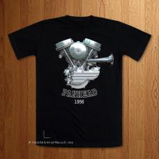 1956 - 57 Panhead Engine T-Shirt