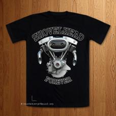 Shovelhead Forever  Black T-Shirt