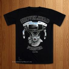 80ci. Shovelhead Forever  Black T-Shirt