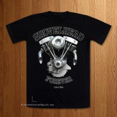 S&S Shovelhead Forever  Black T-Shirt
