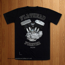 Late Big Flathead U Model  Black T-Shirt