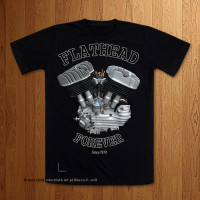 Late Big Flathead U Model - Lean out - Black T-Shirt